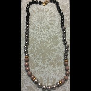 J.Crew Hand Knotted Bead & Rhinestone Necklace